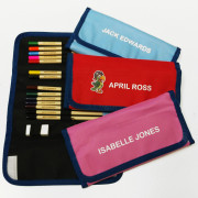 Personalized Coloring Pencils & Case