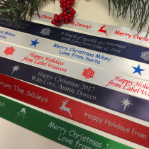 Personalized Christmas Ribbon