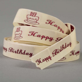 1/2 Inch Personalized Woven Ribbon