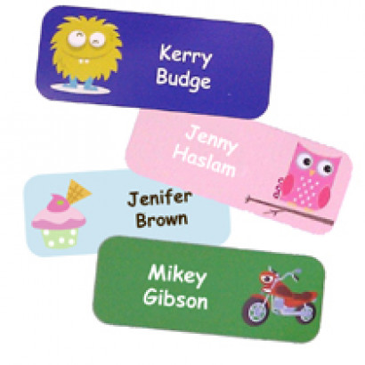 Super Fun Name Stickers