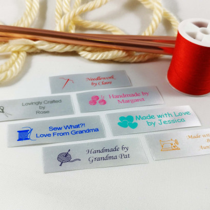 Personalized Satin Sewing Labels