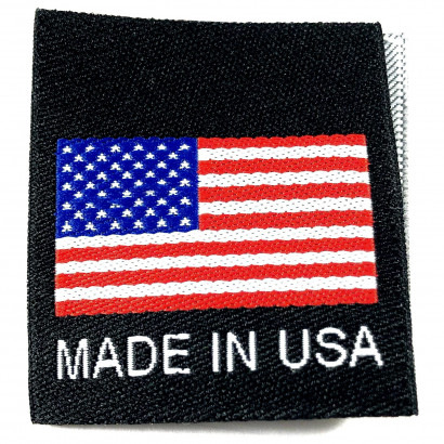 Made in USA Folded Labels Black