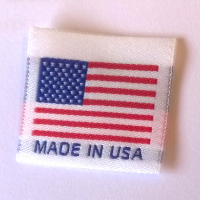 Made in USA Folded Labels White