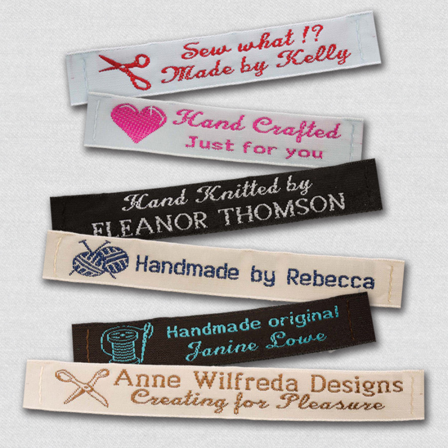 Personalized woven sewing labels label weavers for Sew in craft labels