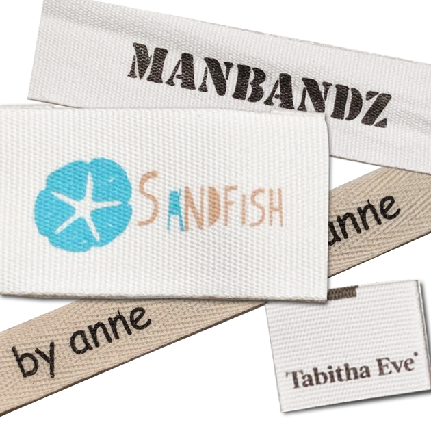 100% Cotton Printed Custom Labels