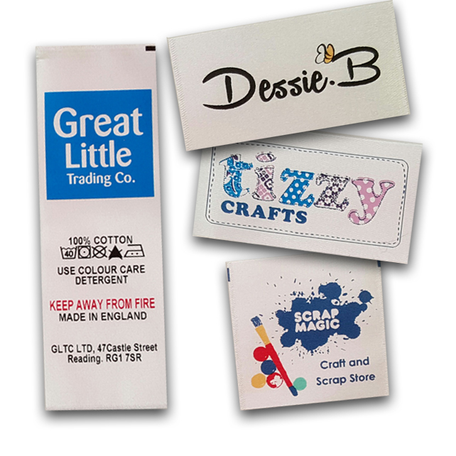 Custom Printed Satin Labels